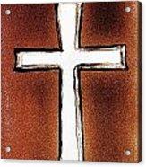 His Cross Acrylic Print