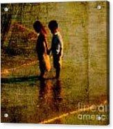 His Kindergarten Sweetheart Acrylic Print