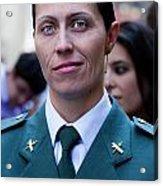 Hispanic Columbus Day Parade Nyc 11 9 11 Female Spanish Police O Acrylic Print