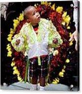 Hispanic Columbus Day Parade Nyc 11 9 11 Young Boy Preparing Acrylic Print