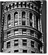 Historic Building In San Francisco - Black And White Acrylic Print