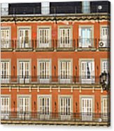 Historic Facade At Plaza Mayor In Madrid Acrylic Print