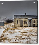 Historic Farm After Snowfall Otago New Acrylic Print by Colin Monteath