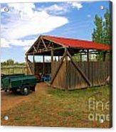 Historic Fruita District Barn Acrylic Print