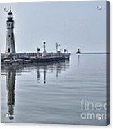 Historic Lighthouse On Lake Erie Acrylic Print
