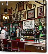 Historic Niles District In California Near Fremont . Bronco Billys Pizza Palace . 7d10707 Acrylic Print by Wingsdomain Art and Photography
