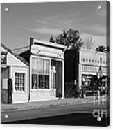 Historic Niles District In California Near Fremont . Main Street . Niles Boulevard . 7d10676  . Bw Acrylic Print by Wingsdomain Art and Photography