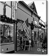 Historic Niles District In California Near Fremont . Main Street . Niles Boulevard . 7d10701 . Bw Acrylic Print by Wingsdomain Art and Photography