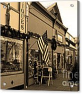 Historic Niles District In California Near Fremont . Main Street . Niles Boulevard . 7d10701 . Sepia Acrylic Print by Wingsdomain Art and Photography