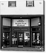 Historic Niles District In California Near Fremont . Niles Essanay Silent Film Museum . 7d10683 Bw Acrylic Print
