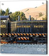 Historic Niles Trains In California . Old Southern Pacific Locomotive . 7d10867 Acrylic Print by Wingsdomain Art and Photography