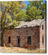 Historic Ruined Brick Building In Rural Farming Community - Utah Acrylic Print