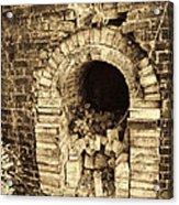 Historical Brick Kiln Oven Opening Decatur Alabama Usa Acrylic Print