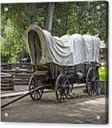 Historical Frontier Covered Wagon Acrylic Print