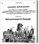 History Of Photography, 1847 Acrylic Print