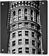 Hobart Building In San Francisco Ll - Black And White Acrylic Print