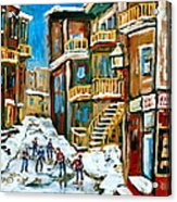 Hockey Art In Montreal Acrylic Print