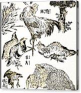 Hokusai: Birds Acrylic Print