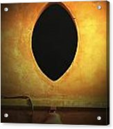 Hole In The Wall With Lamp Acrylic Print