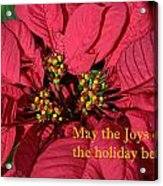Holiday Greeting Card Acrylic Print