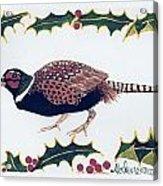 Holiday Pheasant Card Acrylic Print