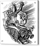 Holiday Train, Conceptual Artwork Acrylic Print by Bill Sanderson