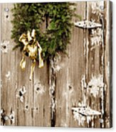 Holiday Wreath On The Farm Acrylic Print