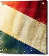 Holland Flag Acrylic Print