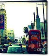 Hollywood Boulevard In La Acrylic Print