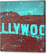 Hollywood Sign Acrylic Print