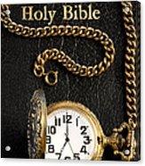 Holy Bible Pocket Watch 1 Acrylic Print