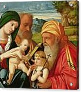 Holy Family With St. Simeon And John The Baptist Acrylic Print