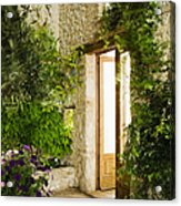 Home Entrance And Courtyard Acrylic Print