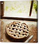 Home Made Pie Cooling By Open Window Acrylic Print