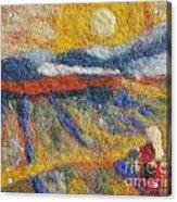 Hommage To Van Gogh Acrylic Print by Nicole Besack