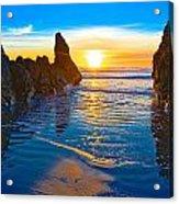 Honda Cove Sunset Acrylic Print