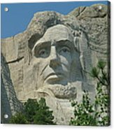 Honest Abe In Stone Acrylic Print