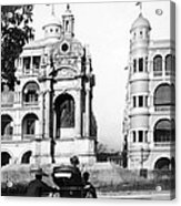 Hong Kong - Monument To Queen Victoria - C 1906 Acrylic Print