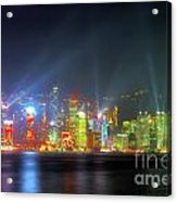 Hong Kong Night Lights Acrylic Print