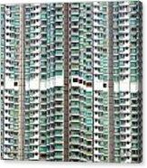 Hong Kong Residential Building Acrylic Print