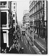 Hong Kong Vintage Street Scene - C 1913 Acrylic Print