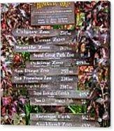 Honolulu Zoo Signs Acrylic Print