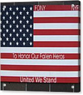 Honor Fallen Heroes Acrylic Print