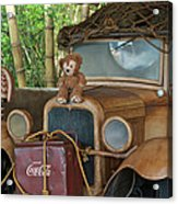 Hood Ornament Disney Bear Acrylic Print