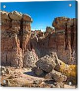 Hoodoos At Gooseberry Desert Wyoming Acrylic Print