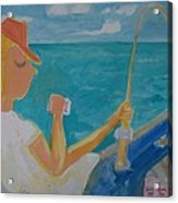 Hooked Acrylic Print by Jay Manne-Crusoe