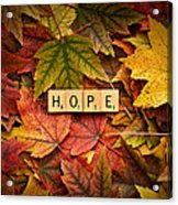 Hope-autumn Acrylic Print