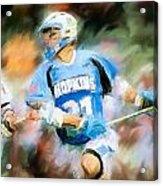 College Lacrosse Midfielder Acrylic Print