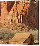 Horse Barn In Fruita Utah Acrylic Print