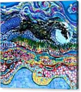 Horse Born Of Moon Energy Acrylic Print by Carol Law Conklin